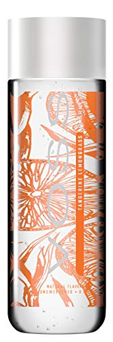 VOSS Flavored Sparkling Water, Tangerine Lemongrass, 330 ml Plastic Bottles (12 Count)