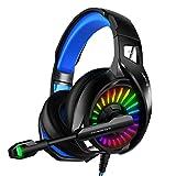xiaoquexing Auriculares con cable de 3,5 mm para PC, con micrófono, color Marquee PC para llamada, auriculares ligeros de negocios, auriculares para videojuegos de 3,5 mm