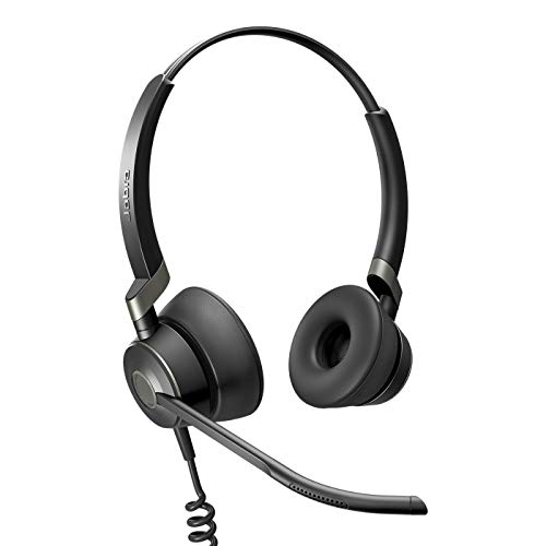 Jabra Engage 50 - Auriculares Digitales estéreo con Cable certificados para Microsoft Teams - Cancelación pasiva de Ruido para softphones y Clientes Web - Cable USB-C - Negro