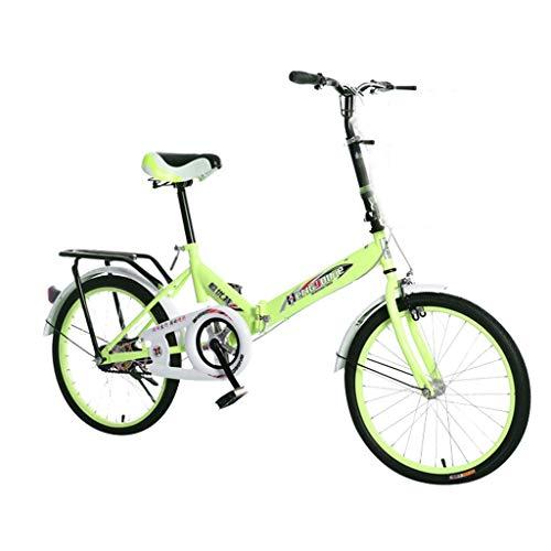 IFOUDNYOU Klappfahrrad 20-Zoll Leichtes Mini Faltrad Kleines tragbares Fahrrad Erwachsener Student Citybike Florenz Amsterdam Hollandrad Retro-Design Kinderfahrrad