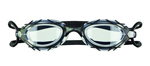 TYR occhialino da adulto occhialino da nuoto per adulti, Unisex – Adulto, Clear/Black/Black, M