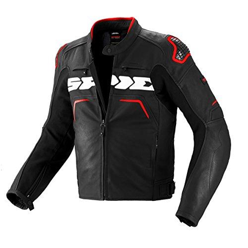 SPIDI P157-014 Motorrad Lederjacke Evorider Leather, Rot, 56
