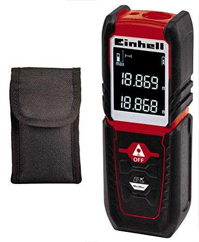 Einhell Laser-Distanzmesser TC-LD 25 (bis 25 m, Messreferenz Vorder- o. Hinterkante, Dauermessung, Abschaltautomatik, Safety-Funktion, inkl. Tasche)