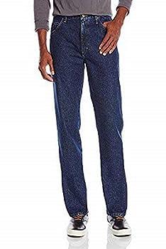 Wrangler Authentics Men s Classic 5-Pocket Regular Fit Cotton Jean Dark Rinse 34W x 32L