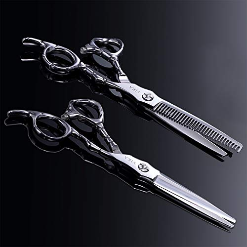 Barber Scissors, YIKA Hair Scissors - Thinning Teeth Hair Shears Set, TRULY SHARP Japanese Stainless Steel 6.7 inch