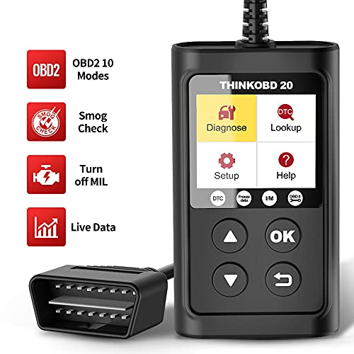 thinkcar Thinkobd 20 OBD2 Scanner, Professional Full OBDII Functions Diagnostic Code Reader Tool, Reader for Check Engine Light/Mode6 O2 Sensor and DTC Lookup