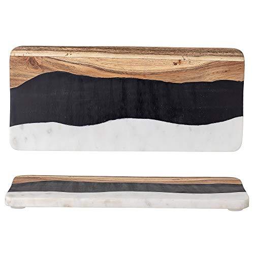 Bloomingville Tabla de cortar, color negro y marrón