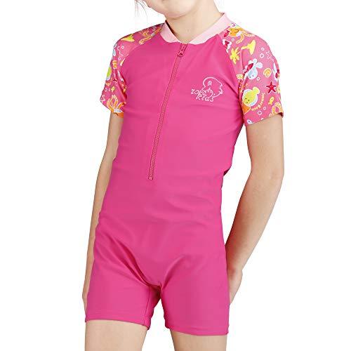 Karrack Kid One Piece Rash Guard Swimsuit Girls Water Sport Short Swimsuit UPF 50+ Sun Protection Bathing Suits