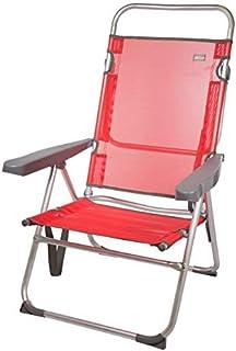 comprar comparacion Aktive 53972 - Silla multiposición aluminio 63 x 57 x 99 cm - rojo