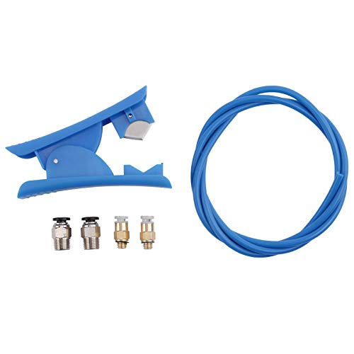 Ecarke Creality Upgrade 3D Printer Set with Capricorn Bowden PTFE Tubing 1M XS Series 1.75MM Filament, Pneumatic Couplers and Tubing Cutter for for Ender 3/3 Pro/5 CR-10 Series/10 V2/10S.