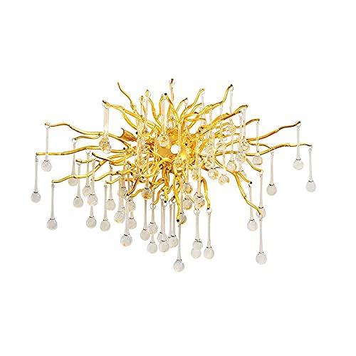 DIRIGIÓ Lámpara de pared de cristal, lámpara de pared de arte de lágrima, lámpara de noche de cristal, iluminación de cristal interior para sala de estar Dormitorio de la habitación Decoración de la h