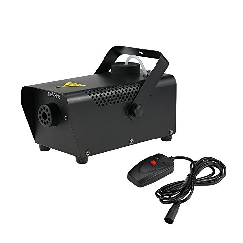 Tomshine 400W Fog Machine Portable Smoke Machine for Halloween Party Wedding Stage Effect - Aluminum Casing - Wired Remote Control
