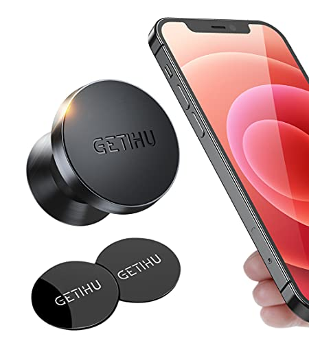 GETIHU Car Phone Holder, 360° Dashboard Mobile Phone Holders for Cars, Universal Magnetic Phone Mount GPS, Compatible with iPhone 12 11 XS 8 Plus Samsung S20 S10 Note 9 Huawei HTC Motorola Oneplus etc