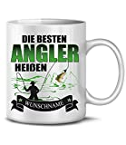 Golebros Die beesten Angler heißen Wunschname 6304 Angel Angeln Anglertasse Anglergeschenk...