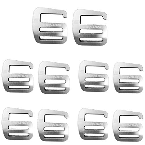 MagiDeal 10x Metall G Haken Gurtband Schnalle, Leicht Und Stark 25mm Silber
