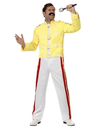 Freddy Mercury Fancy Dress Rock Star Disfraz de Wembley Live Aid y Housewiw Break Free Queen