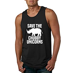 Save Chubby Unicorns   Funny Hip Unicorn Lover   Mens Pop Culture Graphic Tank Top