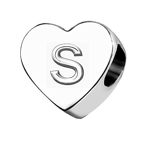 KunBead Jewelry Letter S Initial Charms for Women Sale Clearance Love Big Sister Little Sister Charm for Bracelet