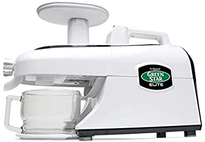 Tribest GSE-5000R Renewed Greenstar Elite Cold Press Complete Masticating Juicer, Juice Extractor with Jumbo Twin Gears, White
