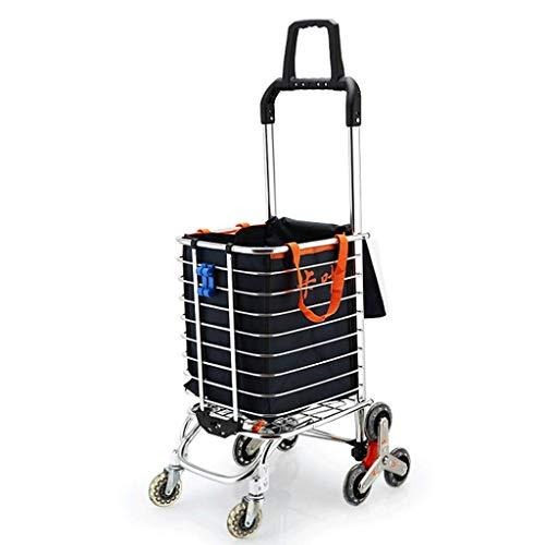 DSENIW QIDOFAN Carro plegable portátil de aleación de aluminio para carro de mano es resistente y duradero, fácil de instalar