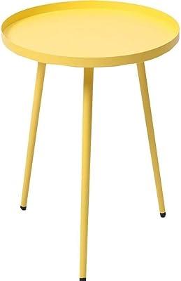 小さなコーヒーテーブルサイドテーブル簡単な組み立て小型多目的 (Color : Yellow, Size : 45cm)