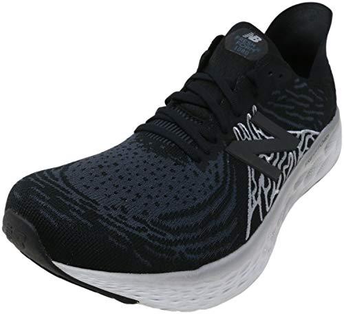 New Balance Men's Fresh Foam 1080 V10 Running Shoe, Black/Steel, 11 W...