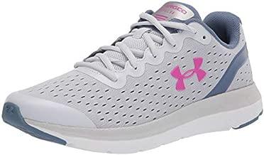 Under Armour Grade School Charged Impulse Running Shoe, Halo Gray (104)/White, 4.5 US Unisex Big Kid