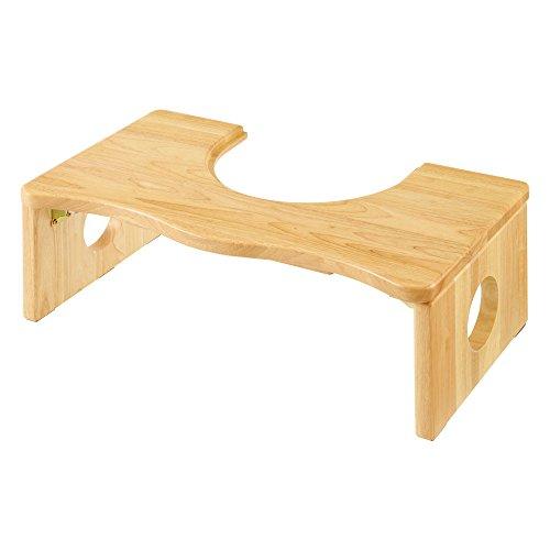 ぼん家具 トイレの踏み台 木製 耐荷重80kg 子供 補助台 踏み台 開口部29cm ナチュラル