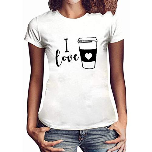 Camisetas divertidas gráficas para las mujeres más el tamaño de la novedad de la novedad de la camiseta I love letra impresión casual de manga corta tops