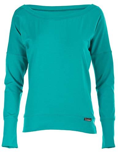 WINSHAPE Damen Longsleeve Freizeit Sport Dance Fitness Langarmshirt, ocean-green, M