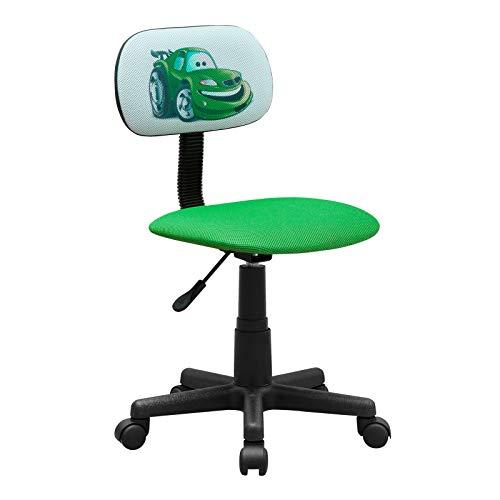 HTI-Line Kinderdrehstuhl Toto Car Schreibtischstuhl Bunt Motiv Bürodrehstuhl Bürostuhl Drehstuhl
