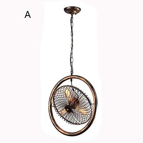 Zhang Ying hanglamp Retro E27 industrieel ijzeren ontwerp creatief voor kussens, restaurant, café, bar [energieklasse A ++]