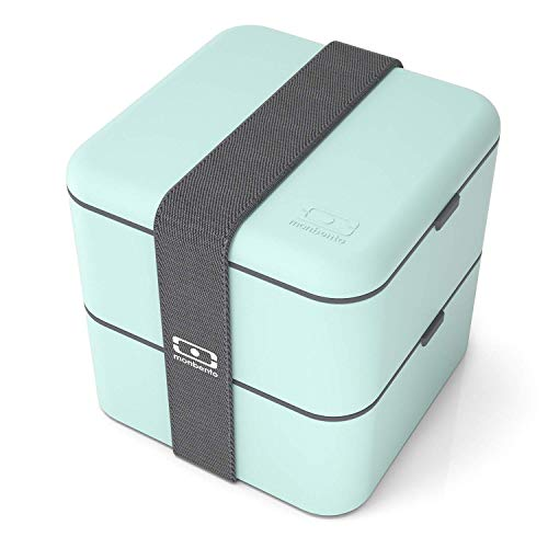 monbento - MB Square grün Matcha Bento Box - Brotdose groß mit...