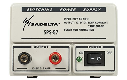 sadelta sps-57Netzteil Netzgerät 220V/13,8V. 5–7Ampere. Ideal für Elektronik, Funkamateure..