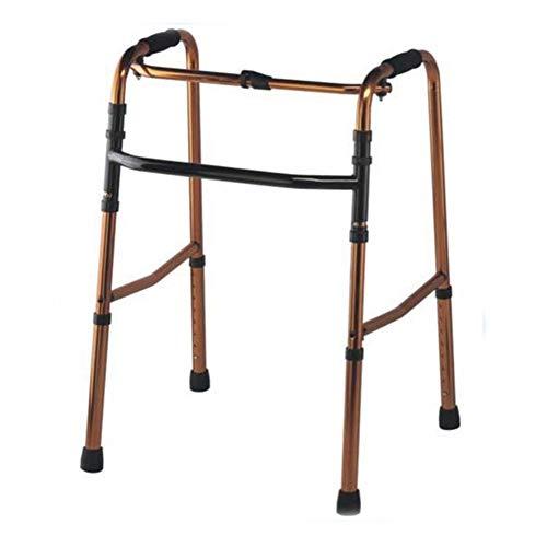 YUHT Walker Cuatro pies Ayuda para Caminar para Ancianos pasamanos Ayuda para Caminar caña de Ayuda Ligera Engrosada 8 Carga Ajustable 100 kg bastón