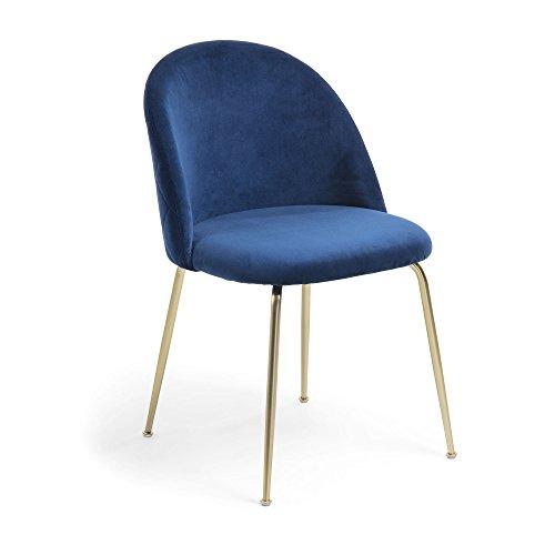 Kave Home - Silla Ivonne Terciopelo Azul