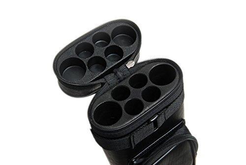 HAN'S DELTA 2x4 Hard Oval Pool Cue Billiard Stick Carrying Case