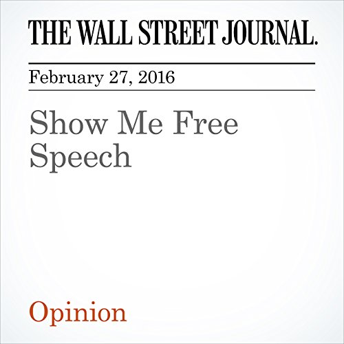 Show Me Free Speech audiobook cover art