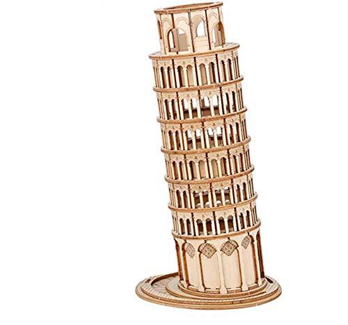 BENREN 3D Holz Puzzle BAU Spielzeug, DIY Montage Pädagogisches Modell Spielzeug, Engineering Kits Desktop-Dekoration,Leaning Tower of Pisa