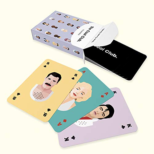The Cool Club. Classic Icons Edition | Kartenspiel 54 Karten | Hochwertige Spielkarten mit den Coolsten Icons der Welt | Cool Design Playing Cards