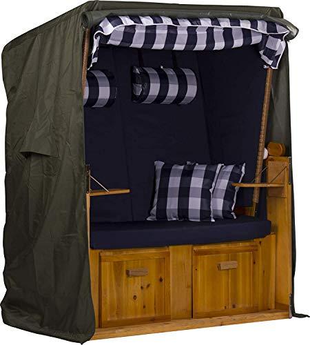 Webavita Strandkorb Schutzhülle Segeltuch 600d Oxford Gewebe grün 120x155x90cm BxHxT | Garten > Strandkörbe | Webavita