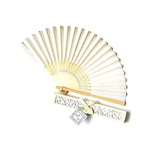 AIUIN Abanico Plegable 1 pcs Estilo Chino de Bambú Ventilador Elegante Casado...