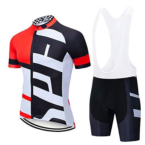QWA Bike Wear, Maillot de Ciclismo para Hombre de Manga Corta, Transpirable...