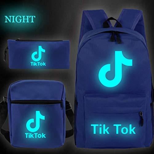 MISS YOU Rucksack Tik Tok Luminous Daypack Rucksack, Geschäftsreise Arbeits Daypack Passend 15-Zoll-Notebook (Color : E)