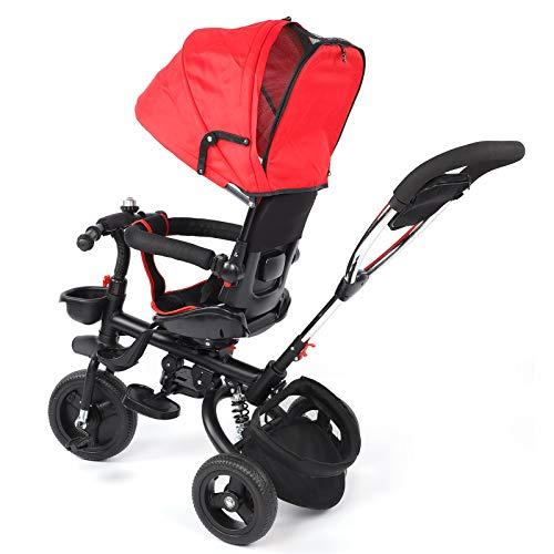 Fybida Cochecito de bebé Triciclo para bebés(Blue)