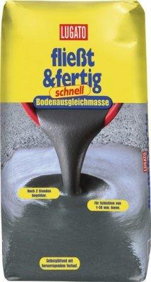 Lugato Fliesst & Fertig Schnell 5 kg- Selbstverlaufende Bodenausgleichmasse