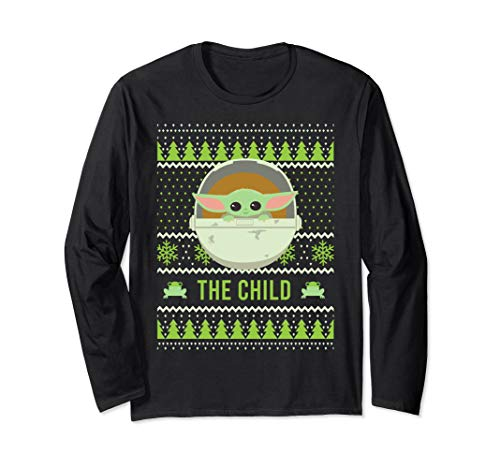 Star Wars The Mandalorian The Child Christmas Sweater Style Long Sleeve T-Shirt