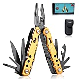 RoverTac Multitool Pliers Camping Tool Fishing With Safety Lock 12 in 1 Pocket Knife Screwdriver Bottle Opener Saw Durable Sheath Unique Gifts for Men Women
