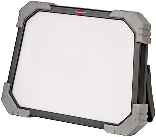 Brennenstuhl LED Baustrahler DINORA 8010 für den ständigen Einsatz im Außenbereich mit spritzwassergeschützter Steckdose (70W, 5m Kabel, IP54, bruch- und schlagfestes Kunststoffgehäuse)