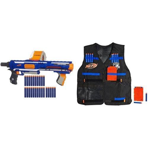Nerf N-Strike Elite Rampage Blaster and Nerf N-Strike Elite Tactical Vest Kit Bundle